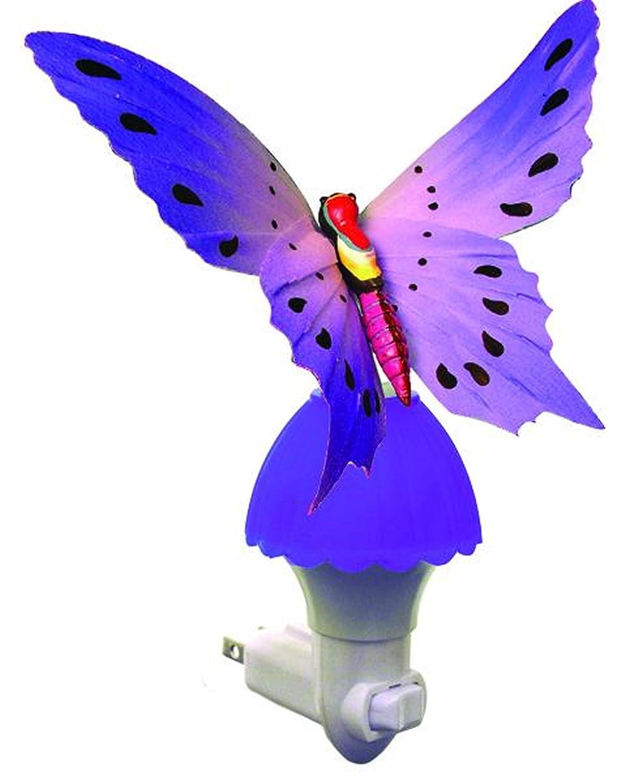 amazon com creative motion fiber butterfly night light purple