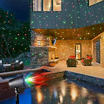 LaserXplore Laser Christmas Lights, Red and Green Star Projector
