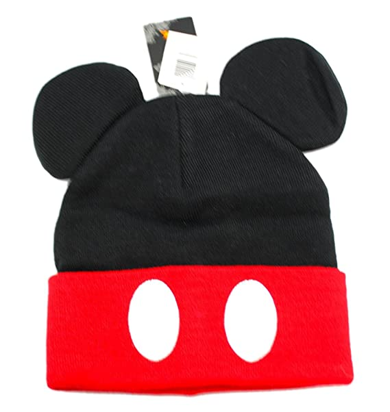 1541b351eb2 Amazon.com  Disney s Mickey Mouse Ears and Pants Buttons Knit Beanie ...