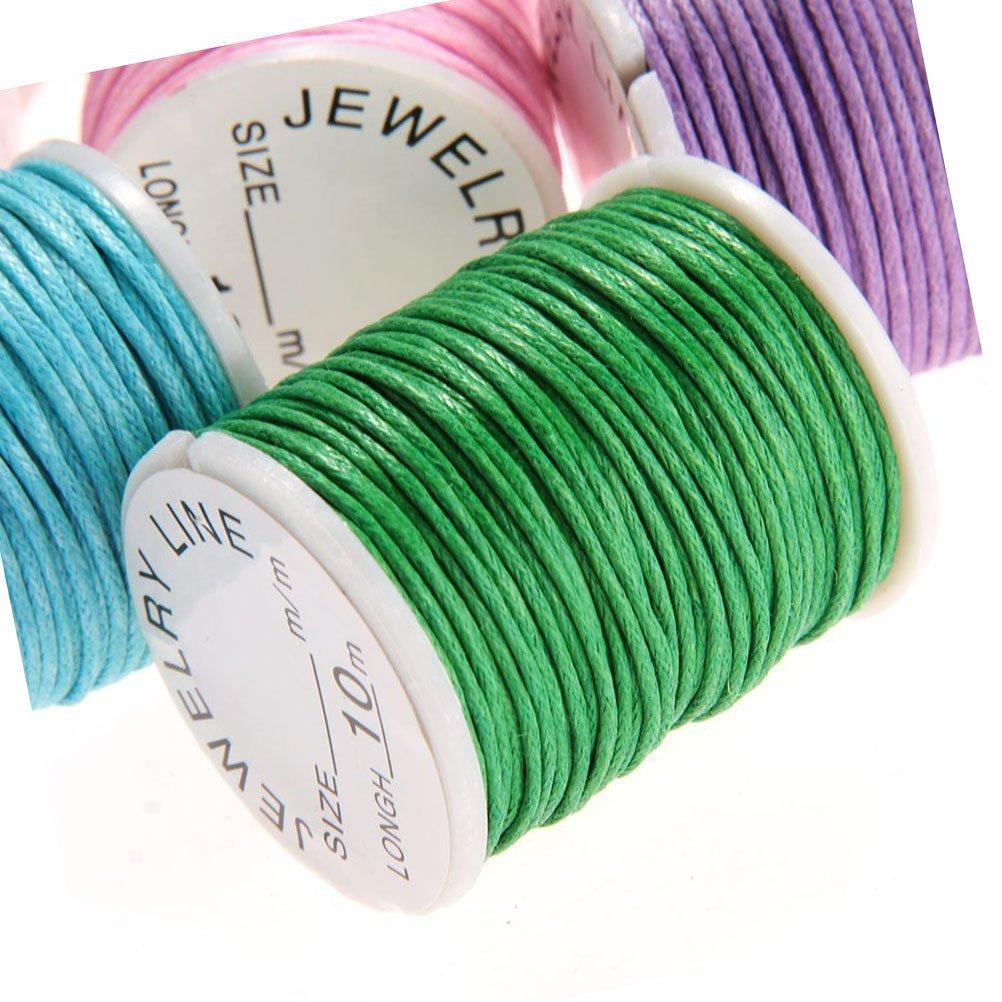 aoory Corde Cire Cordons pour Bracelet Bijoux Bricolage Artisanat Faire 10pcs