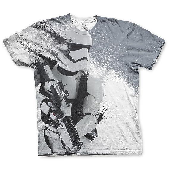 Officially Licensed Merchandise Star Wars - Trooper Allover T-Shirt  (Multicoloured) c79b12316351e