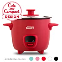 Dash DRCM200GBRD04 Mini Rice Cooker Steamer with Removable Nonstick Pot, Keep Warm...