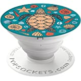 PopSockets Brave New Look  Beach Turtle  PopSockets Cell Phone Stand for Smartphone/Tablet