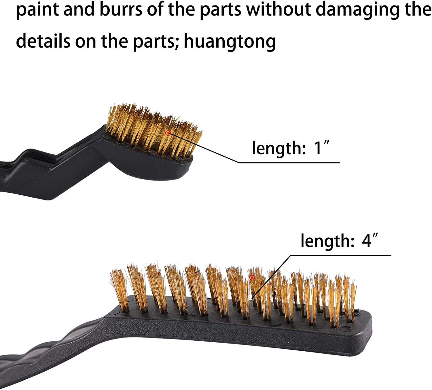 TILAX 4 Pcs Wire Brush Set,Curved Handle Metal Wire Brush Scratch Brush for Cleaning Welding Slag Rust and Dust Curved Handle Stainless Steel and Brass