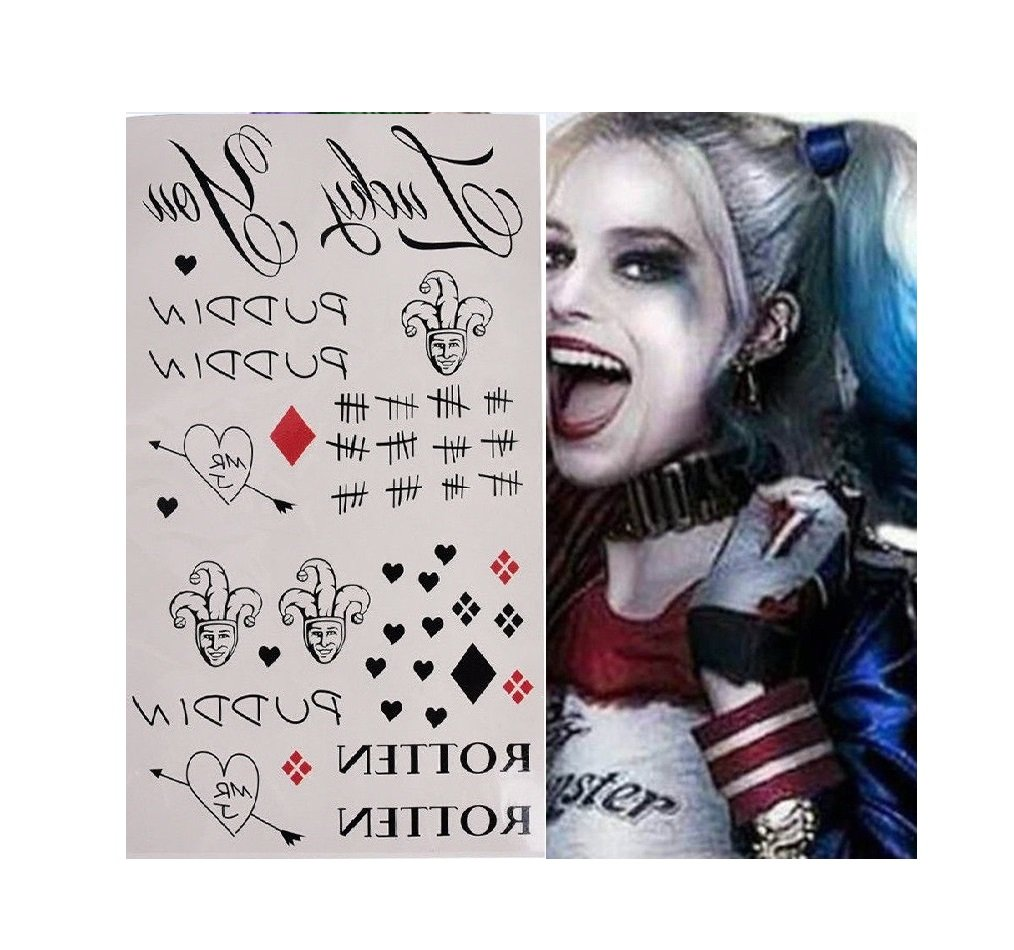L& L® Halloween Cosplay Batman Suicide Squad Joker Temporary Tattoos Stickers Set UK (Type 1) hfghdhdh