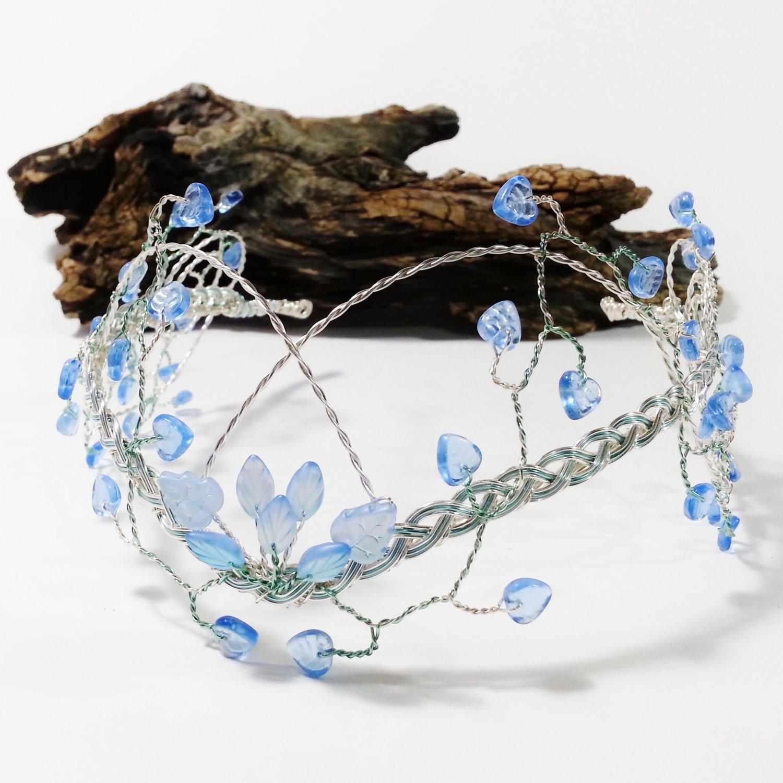 Ice Blue Tiara Elven Princess Wedding Headdress