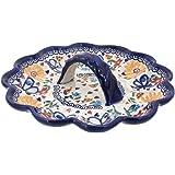 Polish Pottery Butterfly Egg Plate