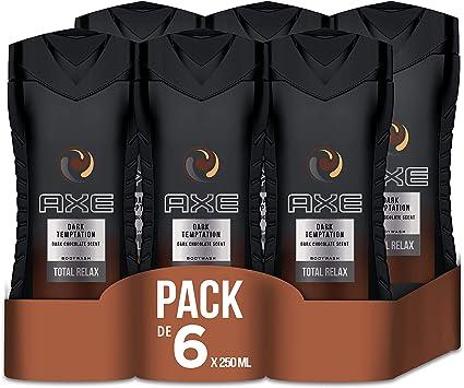 Axe Dark temptation - Set de 6 geles de ducha (6 x 250 ml): Amazon.es: Belleza