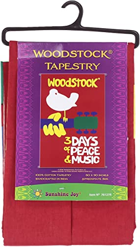 Sunshine Joy Woodstock Music Festival Tapestry Beach Sheet Hanging Wall Art – Huge 60×90 Inches