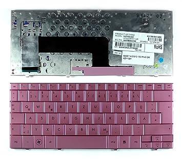 HP Mini 110 - 1080TU, HP Mini 110 - 1081TU, HP Mini 1102TU, HP v100226fk1 rosa alemán de repuesto teclado para ordenador portátil: Amazon.es: Informática