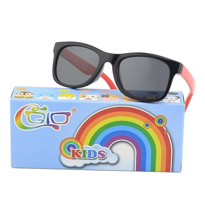 ebbe270069a CGID Rubber Flexible Kids Polarized Sunglasses Glasses for Children Age  3-10