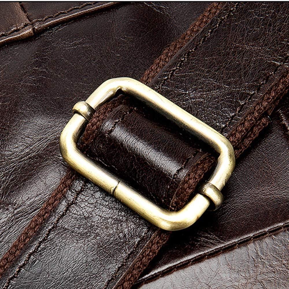 KUVV Durable Fashion Mens Shoulder Bag Top Layer Leather Casual Business Handbag Crazy Horse Leather Retro Mens Bag Briefcase Europe and America Mens Bag Flip Mens Bag Color : Black