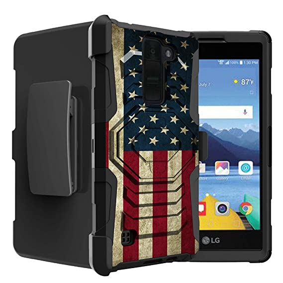 buy popular 9a8c2 0d88c Untouchble Case for LG K8V | K8 V from Verizon Flag Case[Rugged Holster  Case]- Swivel Holster Case with Dual Layer Phone Protection and Built ...