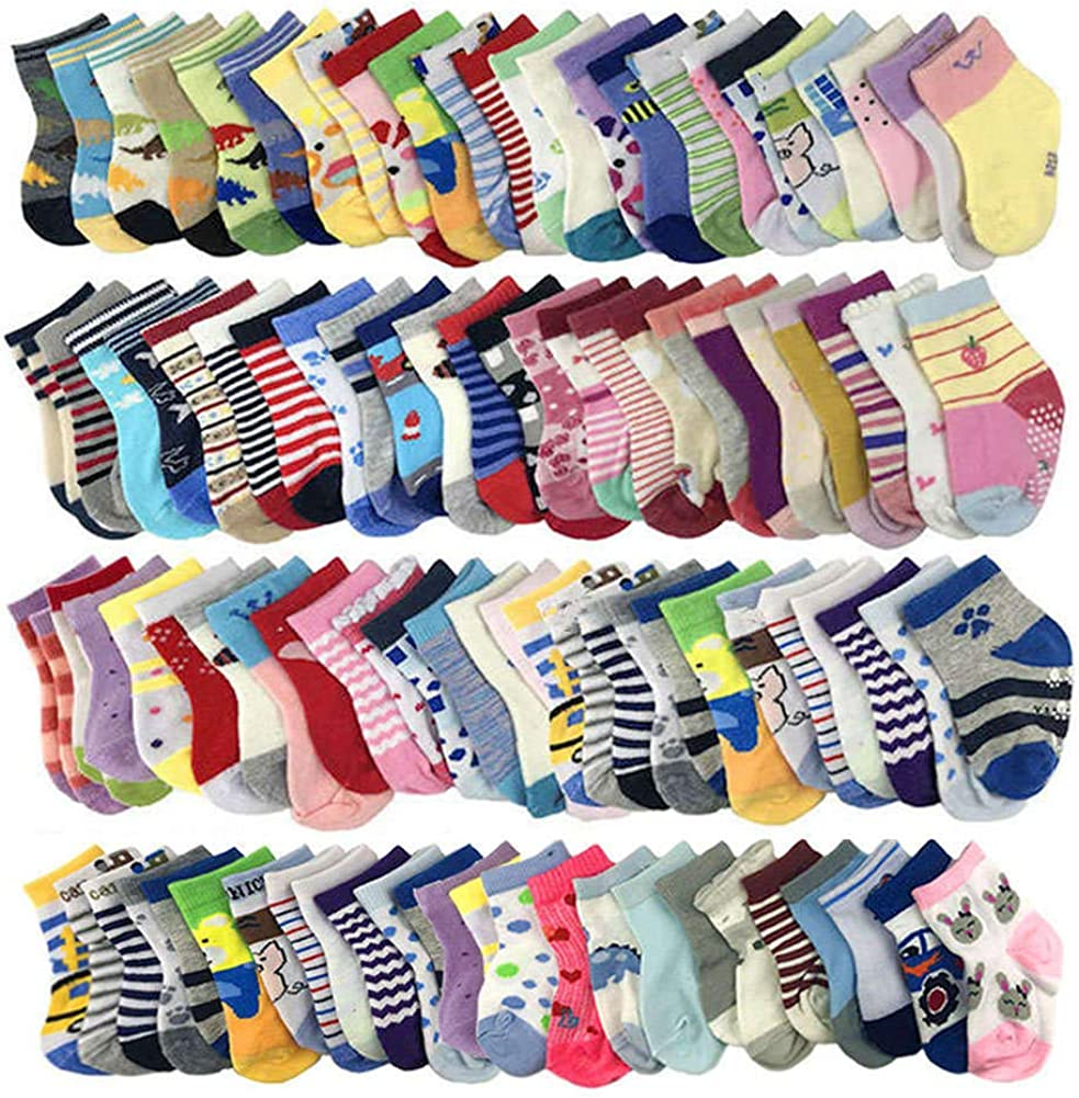20 Pairs Baby Socks Wholesale for Infant Toddler Kids Children (Pattern at Random)
