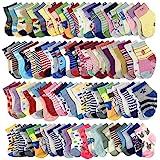 20 Pairs Baby Boy Girl Socks Wholesale for Infant Toddler (Pattern at Random)