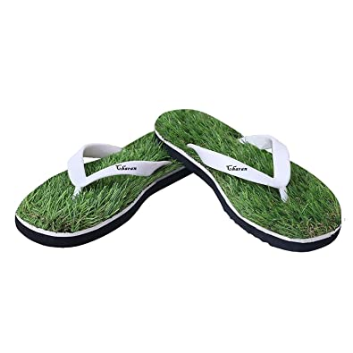cf55291007a8 CHARAN COLLECTIONS Men s Rubber Green House Chappals and Slippers Grass  Flip Flops 10 UK  Buy Online at Low Prices in India - Amazon.in