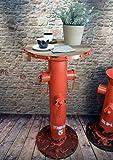 Livitat® Beistelltisch Bartisch H80cm Hydrant Metall Vintage Industrie Look Loft LV5053