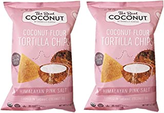 product image for The Real Coconut Grain/Gluten Free Coconut Flour Tortilla Chips 2 Pack (Himalayan)