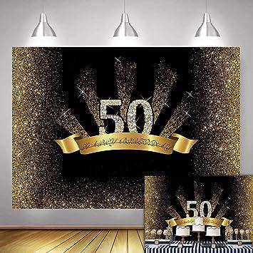 Amazon.com: Fanghui - Fondo para fotografía de 50 cumpleaños ...