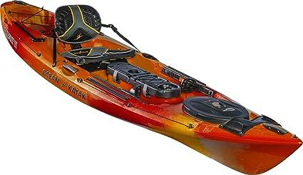 Amazon com : Ocean Kayak Trident 11 Angler Kayak (Sunrise, 11 Feet 6