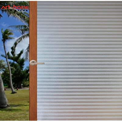 Arthome 35.4 x 100 inch Privacy Window Glass Films No Glue Frosted Static Cling UV Protection Heat Control Home Decorative for Living Room Bathroom Bedroom Kitchen Office (90 x 254 CM,AH024P)