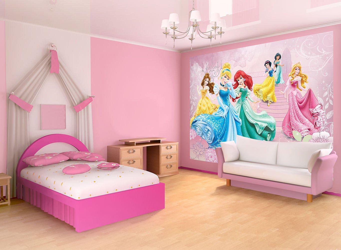 Cameretta Disney Principesse : Carta da parati fotografica principesse disney cameretta per