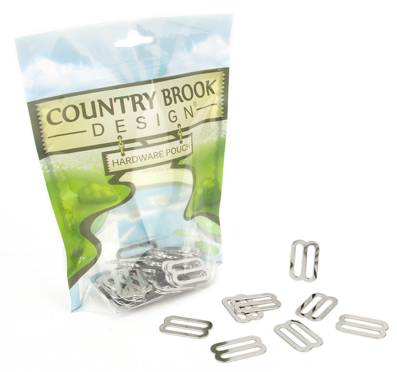 Country Brook Design 20 1 Inch Metal Triglide Slides TM-NIC-1-20