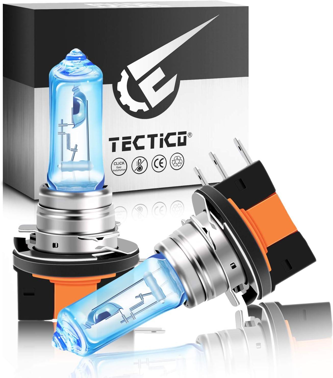 Tectico H15 Halogen Birne 12v 55w Ultra Warmweiß 130 Heiligkeit Fernlicht Abblendlicht Tagfahrlicht Auto Lampe Scheinwerferlampen Ersatz 2 Stücke Auto