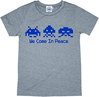 product image for Hank Player U.S.A. We Come in Peace/Space Invaders Kid's T-Shirt