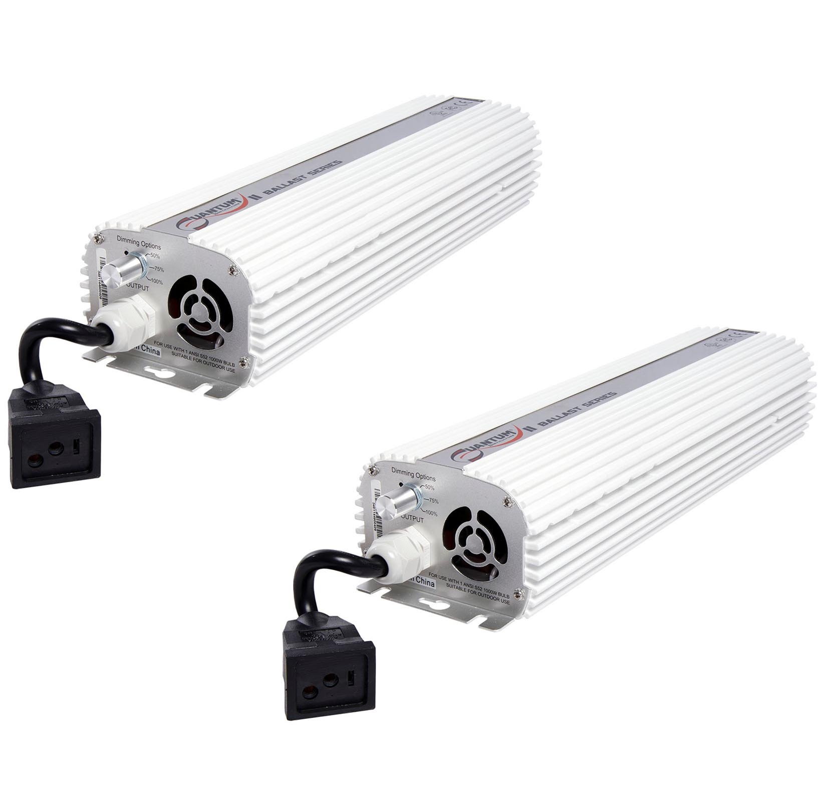(2) QUANTUM 1000W Watt HPS & MH Dimmable Digital Grow Light Ballasts | QT1000 by Quantum Horticulture