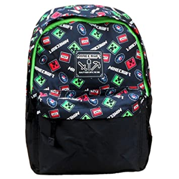 Minecraft Childrens Minecraft Scatter Backpack Rucksack Black   Amazon.co.uk  Luggage fd5f468cc7636