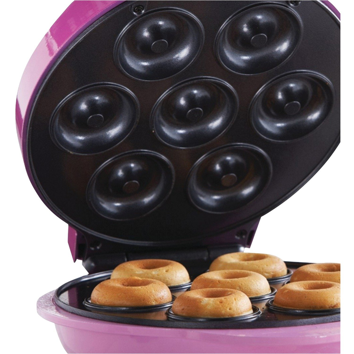 Brentwood TS-250 Non-Stick Mini Donut Maker Machine, Pink by Brentwood (Image #8)