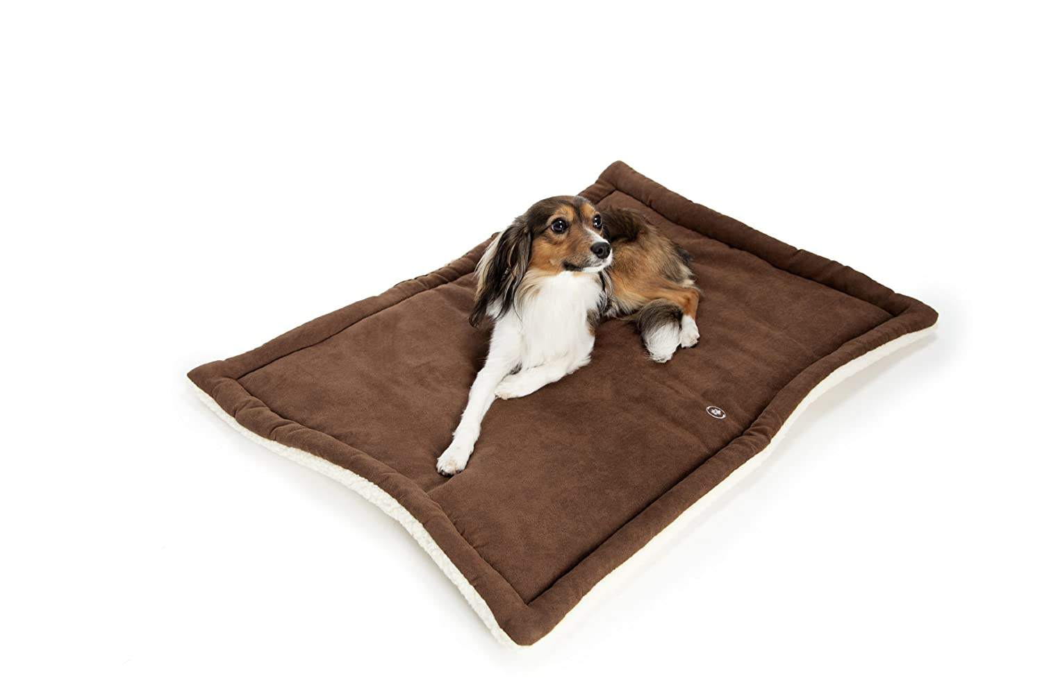 Silverpaw Anti-Odour Plus Anti-Bacterial Reversible Crate Mat, Chocolate Brown Beige, Size, XX-Large