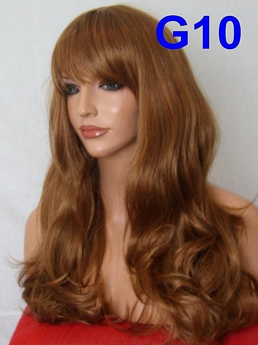 Color Beige cuidado de la peluca de la manera de la fiesta de tamaño mediano y a