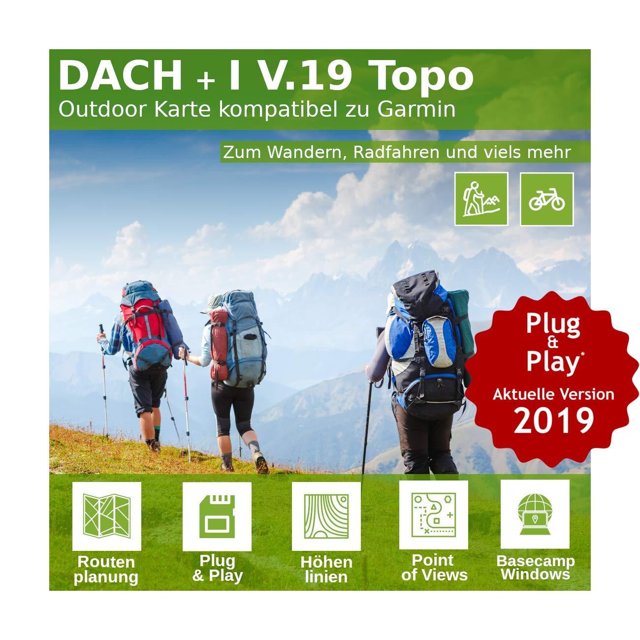 Dach V.19 - Outdoor Topo Karte kompatibel zu Garmin Astro 220, Astro 320 & Alpha 50, Alpha 100