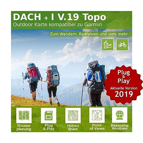 Dach V.19 - Outdoor Topo Karte kompatibel zu Garmin Oregon 200, Oregon 300, Oregon 400c, Oregon 400i, Oregon 400t, Oregon 450