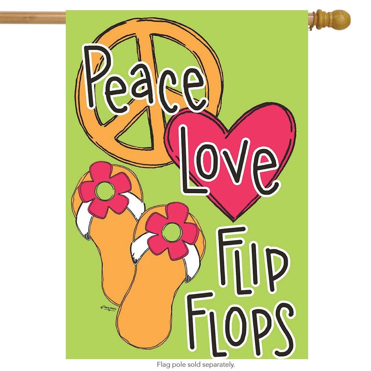 Paz amor chanclas bandera de porche 28