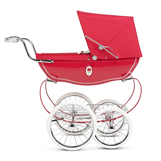 Amazon.com: Silver Cross Chatsworth Dolls Pram, Poppy red.: Toys & Games