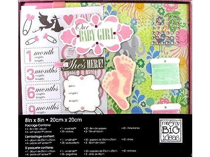amazon com me my big ideas mambi 8x8 baby girl boxed album kit