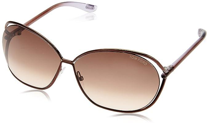 Tom Ford Gafas de Sol Carla (66 mm) Marrón: Amazon.es: Ropa ...