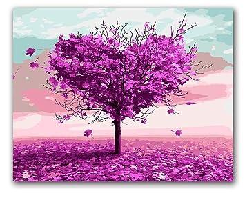 Frgiad Dibujos Para Colorear Por Números árboles De Amor
