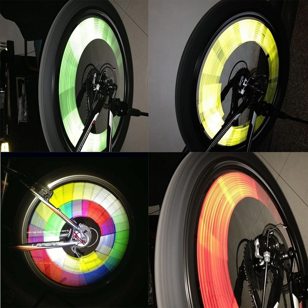 GOOTRADES 6 Sets//72pcs Bicycle Wheel Spoke Reflector Reflective Mount Clip Tube Warning Strip