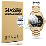 Diruite 3-Pack for Michael Kors Bradshaw Screen Protector, 2.5D 9H Hardness Tempered Glass Screen Protector for Michael Kors MKT5001 Smart Watch