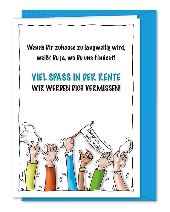 Freche Xl Grußkarte Für Kollege Kollegin Zum Abschied Zur Verabschiedung In Rente Ruhestand Pensionierung Altersteilzeit Inklusive Umschlag Din