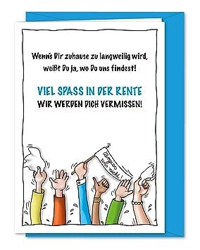 Tarjeta de felicitación para Staufen, kollegin de despedida ...