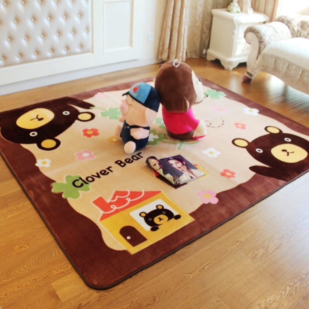 Bedroom bedside door mat,bathroom kitchen non-slip child mat-A 200x300cm(79x118inch)