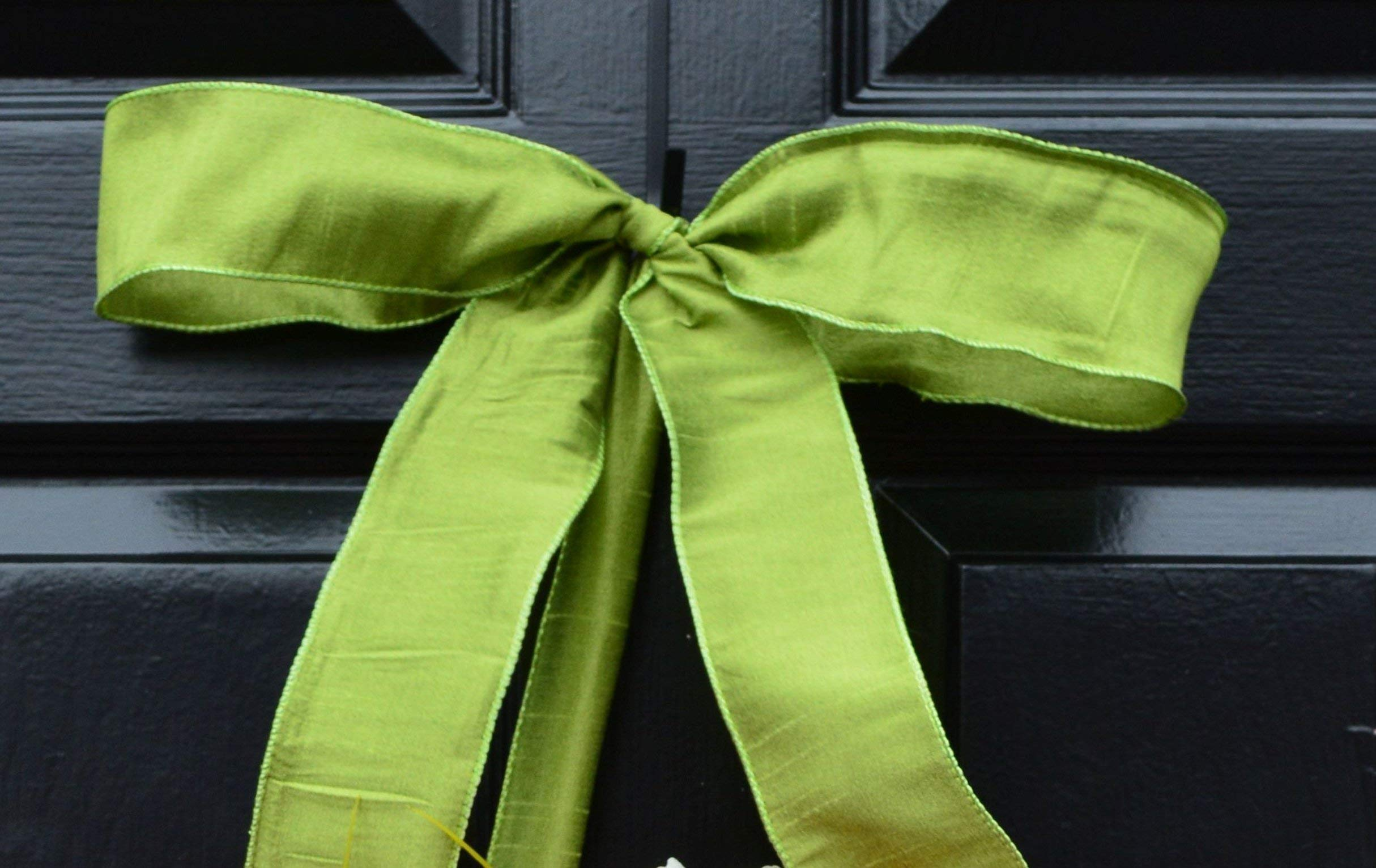 Elegant Holidays Handmade Cream, Green Berry Wreath with Monogram, Front Door Welcome Guests Outdoor Indoor Home Wall Accent Décor Great Spring, Easter, St Patricks Day, Christmas, All Seasons, 18-24 by Elegant Holidays Inc. (Image #6)