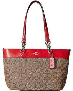 Amazon.com  Coach Town Tote Pebble Leather Handbag F12184 Saddle  Shoes 9b3114322f