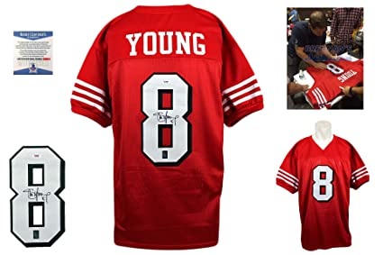 938428c1e Image Unavailable. Image not available for. Color  Steve Young Signed  Custom Jersey - Beckett - Autographed ...