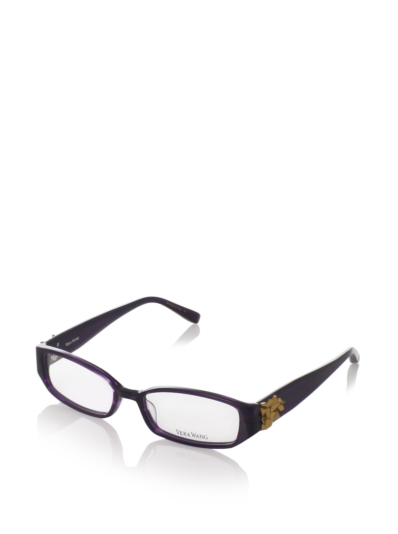 Vera Wang Eyeglasses V055 Eyeglasses in Plum 51mm